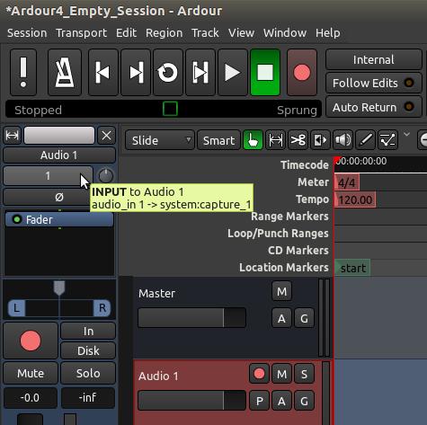 Recording Audio – Ardour 4